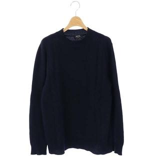 アーペーセー(A.P.C)のアーペーセー ニット セーター ウール カシミヤ混 ケーブル 長袖 XS 紺(ニット/セーター)
