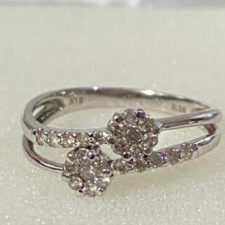 華やか K10 ダイヤモンド リング 0.3ct フラワーモチーフ(リング(指輪))