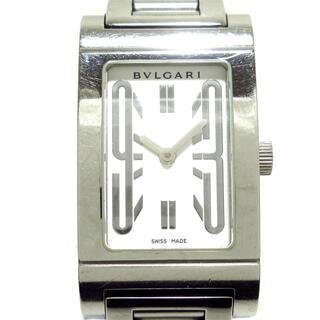 ブルガリ(BVLGARI)のブルガリ 腕時計 レッタンゴロ RT39S 白(腕時計)