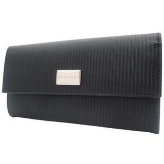 ブルガリ(BVLGARI)のブルガリ 2つ折り長財布 PVC カーフ ブラック黒 40800074670(長財布)