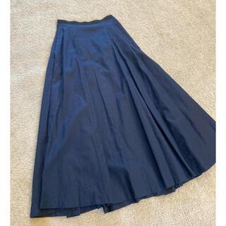 エディション(Edition)の新品 CLANE ネイビー ロングフレアスカート 1(ロングスカート)