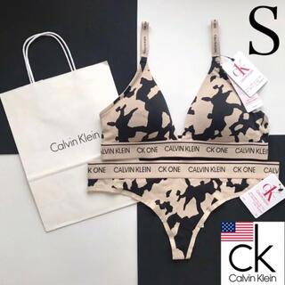 カルバンクライン(Calvin Klein)のレア 新品 Calvin Klein USA パット付ブラショーツセット S(ブラ&ショーツセット)