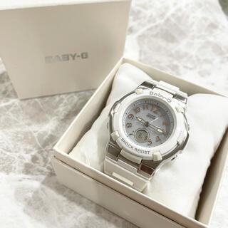 ベビージー(Baby-G)のBaby-G Gショック BGA-1100白 ホワイト アナログ タフソーラー(腕時計)