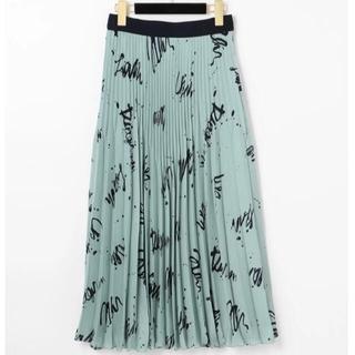 GRACE CONTINENTAL - グレースコンチネンタル アートプリントプリーツスカート