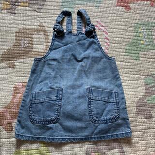 ネクスト(NEXT)のNEXT baby デニムジャンパースカート 12-18m 86cm(ワンピース)
