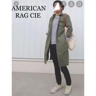 アメリカンラグシー(AMERICAN RAG CIE)の美品 AMERICAN RAG CIE ファティーグ ロングシャツ ワンピース(ロングワンピース/マキシワンピース)