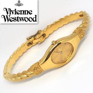 ヴィヴィアンウエストウッド(Vivienne Westwood)のヴィヴィアンウエストウッド 稼働品 ゴールド ブレスロープウォッチ(腕時計)
