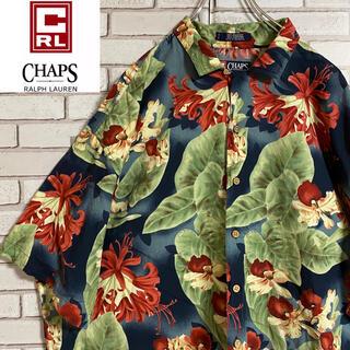 Ralph Lauren - 90s 古着 ヴィンテージ アロハシャツ 柄シャツ ビッグシルエット ゆるだぼ