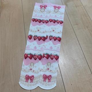 アンジェリックプリティー(Angelic Pretty)の新品 アンジェリックプリティ いちご オーバーニー strawberry タイツ(ソックス)