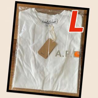 アーペーセー(A.P.C)の【新品】A.P.C. アーペーセー カーハート Tシャツ ホワイト Lサイズ(Tシャツ/カットソー(半袖/袖なし))