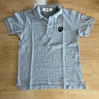 コムデギャルソン(COMME des GARCONS)のCOMMEdesGARCONS PLAYポロシャツ Lサイズ グレー(ポロシャツ)