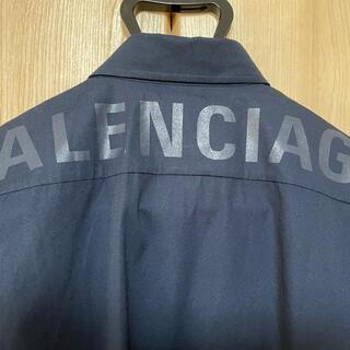 Balenciaga - バレンシアガ バックロゴシャツ ダークネイビー 39