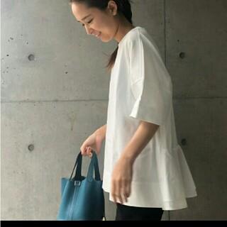 Drawer - yori バッグフレアオーバーカットソー ホワイト ヨリ 美品 完売