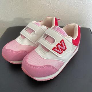 ニシマツヤ(西松屋)の子ども靴 16cm ピンク(スニーカー)