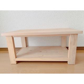 ダブルティー(WTW)のWTW パイン材 カフェテーブル(ローテーブル)