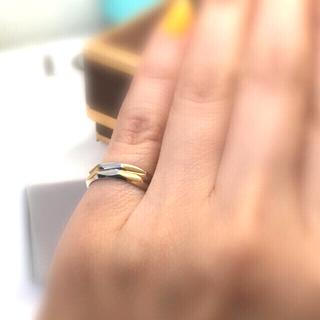 セリーヌ(celine)の25日迄価格!今注目のオールドセリーヌ!☆K18&ptバイカラーリング6.5号(リング(指輪))
