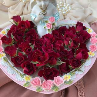 ミニ薔薇(茎なし)ドライフラワー★20輪セット+おまけ4輪付き!限定サービス特価(ドライフラワー)