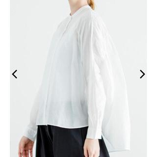 nest Robe - mizuiroind ミズイロインド バックカラーギャザーワイドシャツ