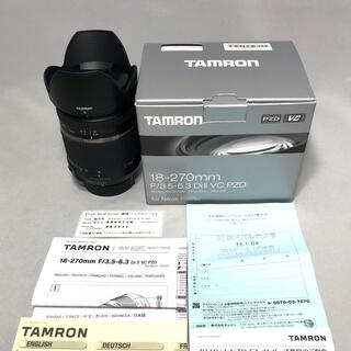 TAMRON - 新型TAMRON 18-270mm DiII VC PZD TS B008TSN