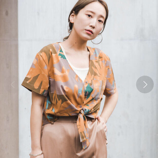 カスタネ(Kastane)の新品 前結びシアーシャツ(シャツ/ブラウス(半袖/袖なし))