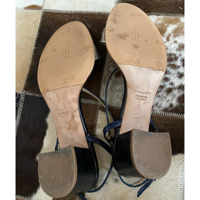 PELLICO(ペリーコ)のペリーコ シルバー ネイビー サンダル 37 レディースの靴/シューズ(サンダル)の商品写真