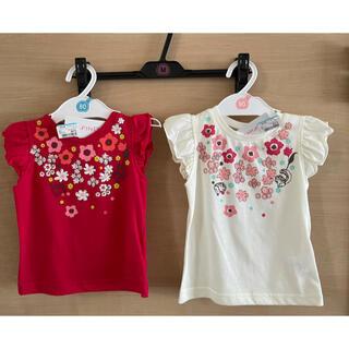 ニシマツヤ(西松屋)の新品未使用⭐︎お揃い半袖トップス 80、90 2枚セット(Tシャツ)