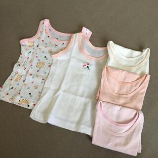 ユニクロ(UNIQLO)の女の子 80  夏服 ノースリーブ シャツ まとめ売り(タンクトップ/キャミソール)