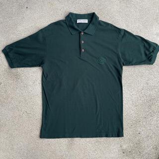 ドルチェアンドガッバーナ(DOLCE&GABBANA)の90s 古着 D&G ドルガバ ロゴ ポロシャツ グリーン(ポロシャツ)