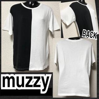 【muzzy】バイカラーハーフ切替Tシャツ(Tシャツ(半袖/袖なし))