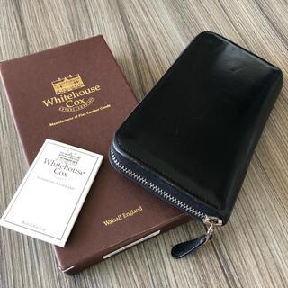 WHITEHOUSE COX - ホワイトハウスコックス✴︎長財布             ブラック/マリン