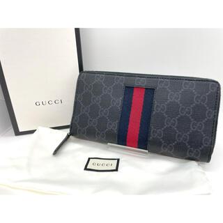 Gucci - GUCCI GGスプリーム ニューウェブ ラウンドファスナー長財布