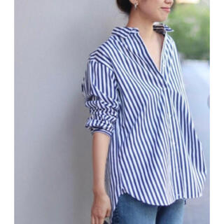 フレームワーク(FRAMeWORK)のFRAMeWORK THOMAS MASON 2WAYシャツ ネイビーストライプ(シャツ)