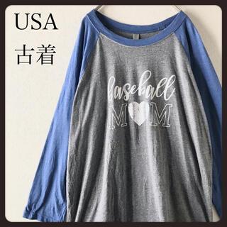 【USA古着】nextlevel ラグランスリーブ 七分袖カットソー   L(Tシャツ/カットソー(七分/長袖))