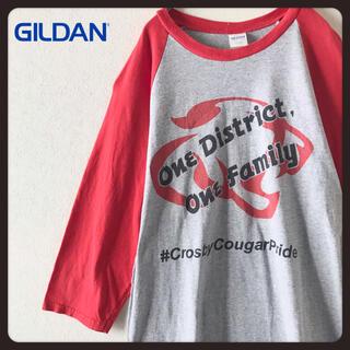 ギルタン(GILDAN)の【USA古着】GILDAN ラグランスリーブ 七分袖シャツ カットソー  M(Tシャツ/カットソー(七分/長袖))