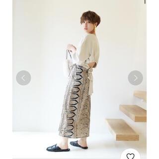 トゥデイフル(TODAYFUL)の美品☆ TODAYFUL サテンWラップスカート(ロングスカート)