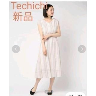 テチチ(Techichi)のTechichi ストライプワンピース ジャカード生地 新品(ロングワンピース/マキシワンピース)