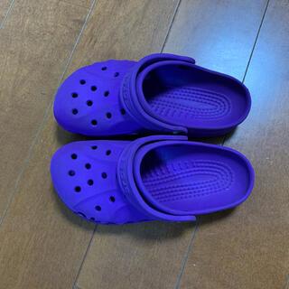 crocs - クロックスサンダル 紫