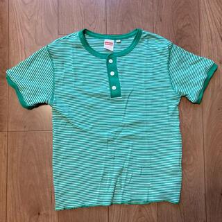 ビームスボーイ(BEAMS BOY)のHealthknit  ヘンリーネックサーマルT ボーダー(Tシャツ/カットソー)