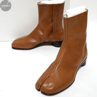 マルタンマルジェラ(Maison Martin Margiela)の21SS メゾンマルジェラ 22 レザー 足袋 ブーツ 茶41 26cm新品タビ(ブーツ)