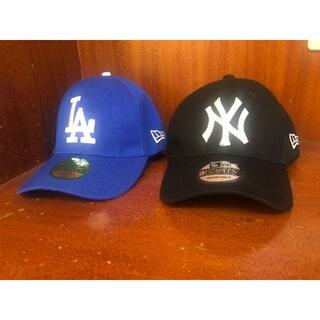 NEW ERA - 黒青2点セットNew Era LA  NY ドジャース キャップ  新品未使用