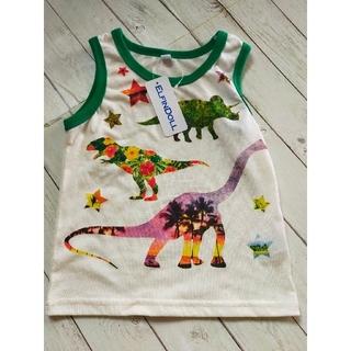 ニシマツヤ(西松屋)の新品 恐竜ランニング 100(Tシャツ/カットソー)