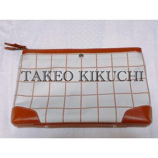 タケオキクチ(TAKEO KIKUCHI)の【✨美品✨】TAKEO KUKUCHI ショルダーバッグ クラッチバッグ(セカンドバッグ/クラッチバッグ)