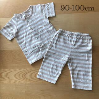 ムジルシリョウヒン(MUJI (無印良品))の【MUJI】お着替え半袖パジャマ(七分丈)・(ベビー) 90~100(パジャマ)