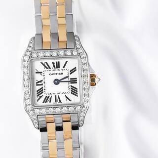 カルティエ(Cartier)の【仕上済】カルティエ サントスドゥモワゼル コンビ ダイヤ レディース 時計(腕時計(アナログ))