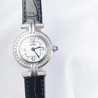 カルティエ(Cartier)の【仕上済】カルティエ コリゼ アラビア シルバー ダイヤ レディース 腕時計(腕時計)