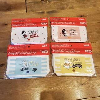 キリン(キリン)の☆ 新品未使用 キリン ディズニー ウェットティッシュポーチ 全4種 非売品 ☆(キャラクターグッズ)