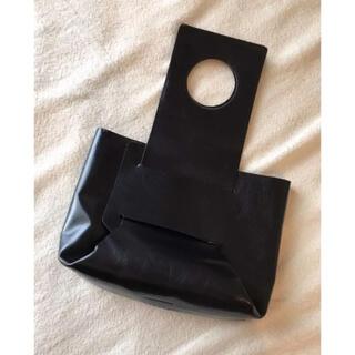 ラドロー(LUDLOW)のLUDLOWラドロー黒ブラックレザーハンドバッグクラッチバッグ変形デザイン(ハンドバッグ)