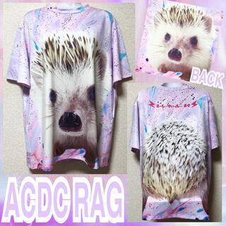 エーシーディーシーラグ(ACDC RAG)の【新品/ACDC RAG】BIGハリネズミプリントTシャツ(Tシャツ(半袖/袖なし))