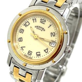 Hermes - エルメス CL4.220 デイト クリッパー レディース腕時計 ゴールド
