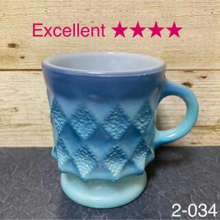 ファイヤーキング(Fire-King)のファイヤーキング キンバリー マグカップ ターコイズブルー #2(グラス/カップ)